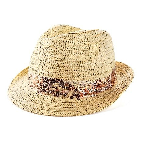 Collection XIIX Woven Fedora with Sequin Band at HSN.com