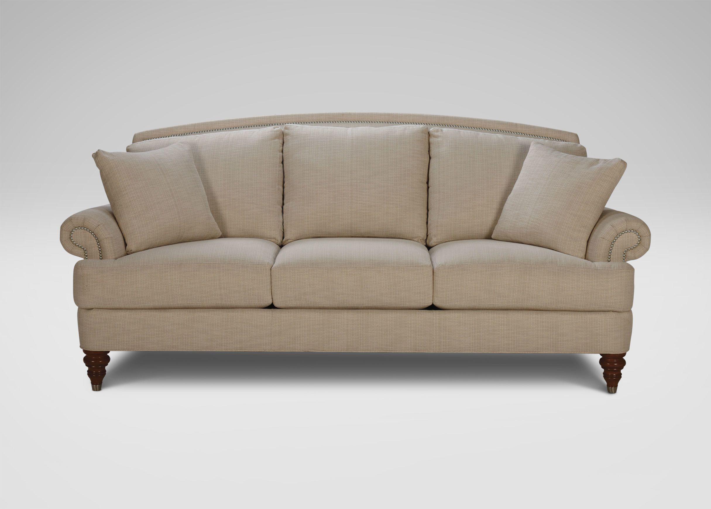 Hyde Sofa, Beckett/Linen   Ethan Allen