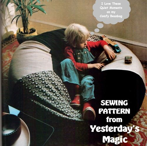 Full Size Sewing Pattern To Make A Giant Bean Bag Chair Round Floor