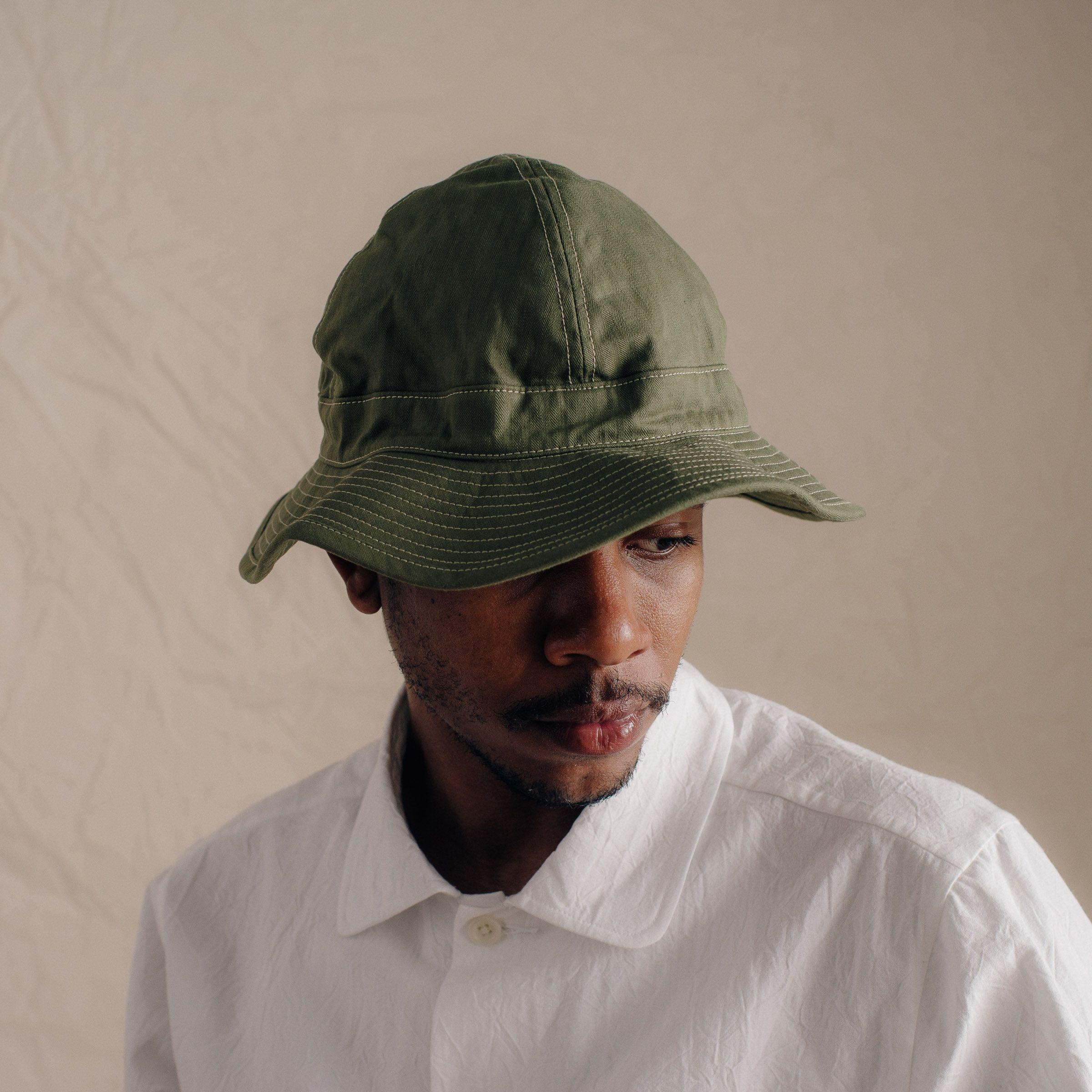 c1e276b66e00f8 ORSLOW US NAVY HAT IN GREEN | M A N | Hats, Us navy hats et Navy hats