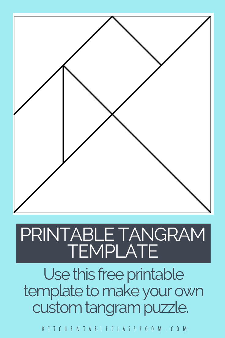Crafty image with free printable tangram puzzles