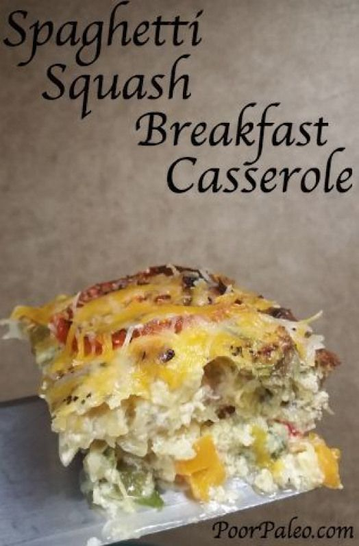 Spaghetti Squash Breakfast Casserole! Paleo (without cheese) Primal Whole 30 and 21 day sugar detox compliant!