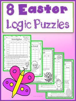 Easter Logic Puzzles for Beginners~Critical Thinking~ Grades 2, 3