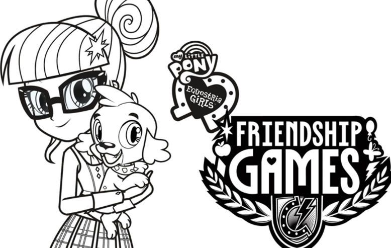 my little pony equestria girls friendship games coloring sheets - Coloring Games For Girls
