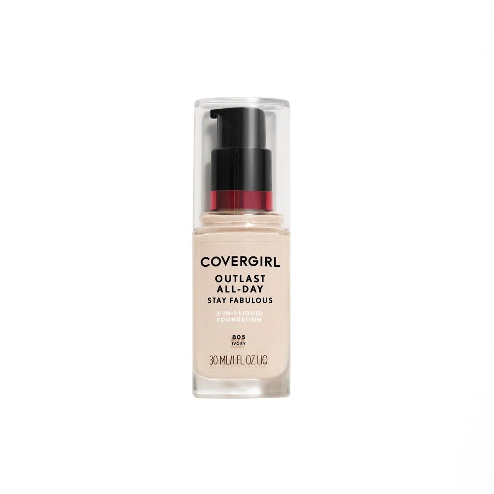 2a25196c7cf Covergirl + Olay Stay Fabulous 3-in-1 Foundation 805 Ivory 1Fl Oz in ...