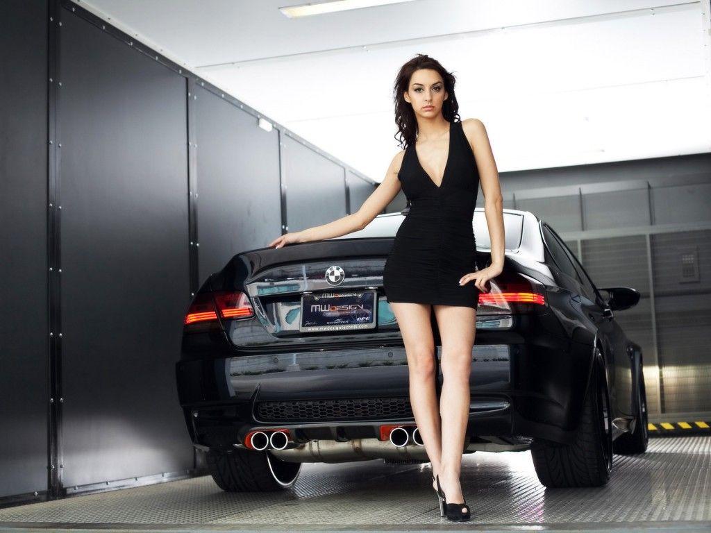 Girl With Car Hd Wallpaper Bmw Girl Car Girl Girl Model