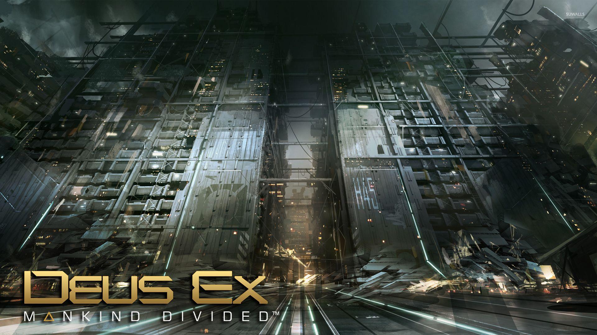 Destroyed Buildings In Deus Ex Mankind Divided Wallpaper Game