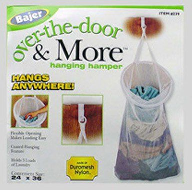 Bajer Over The Door Hanging Hamper,26u0027u0027 H. X 13u0027u0027