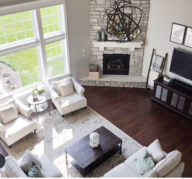 Similar Floor Plan And Corner Fireplace To Our House Different Furniture Layout We Could Try