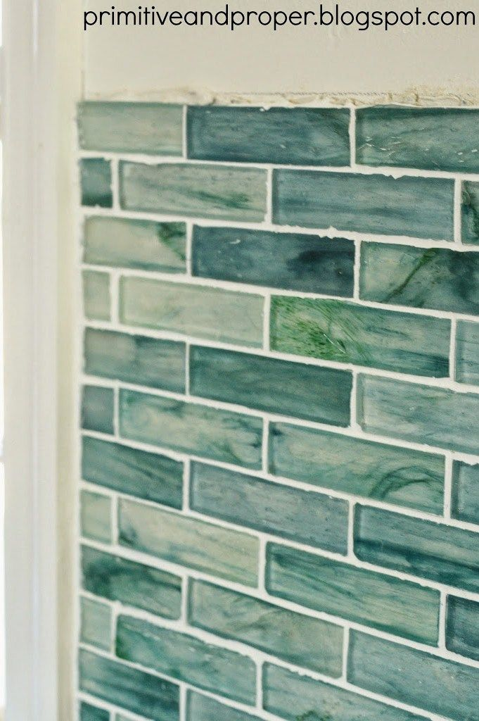 Diy Recycled Gl Backsplash With The Tile