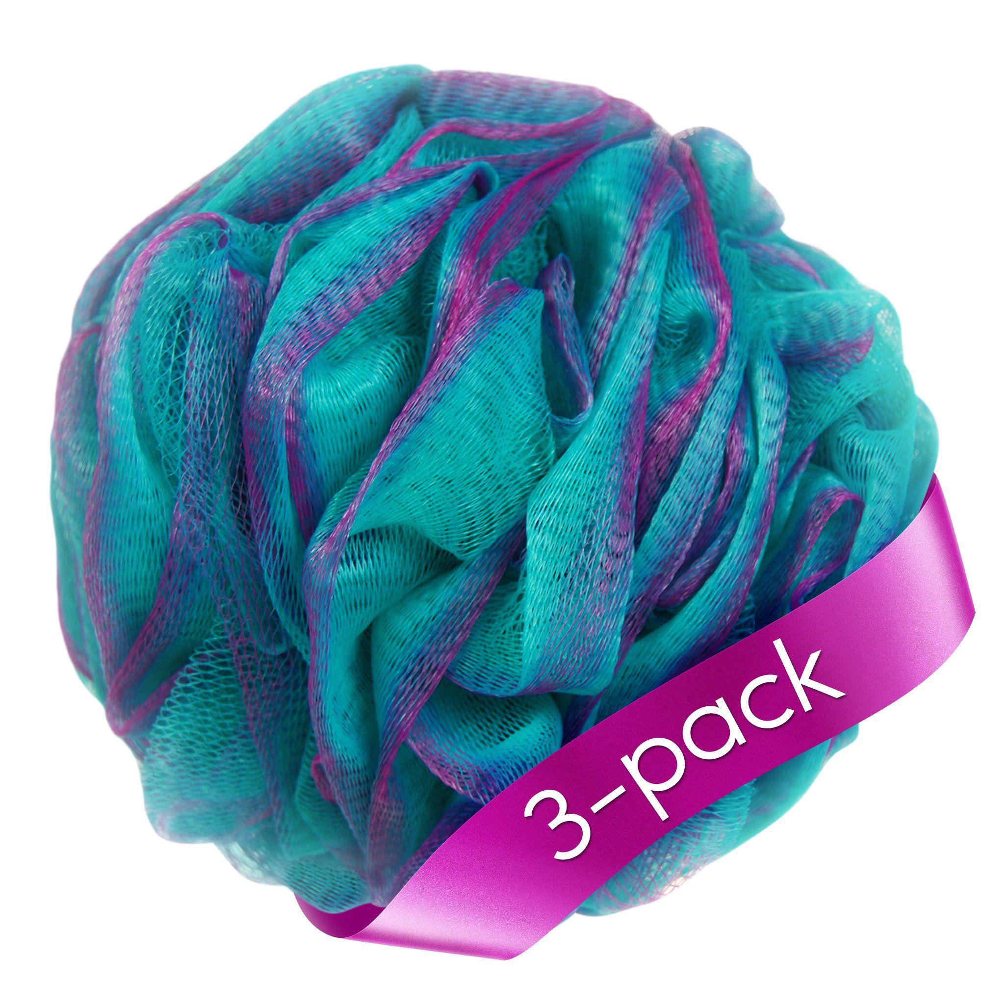 Loofah Bath Sponge Set of 3 different colors (70 gram each) by à la ...