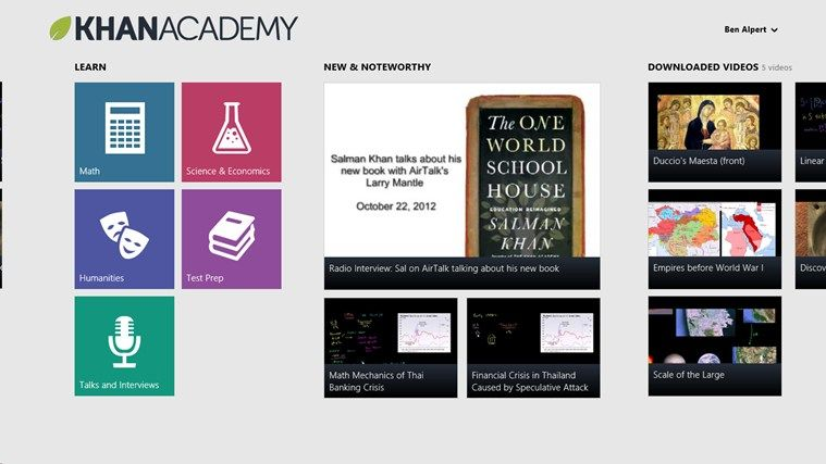 Khan Academy allows you to learn almost anything for free
