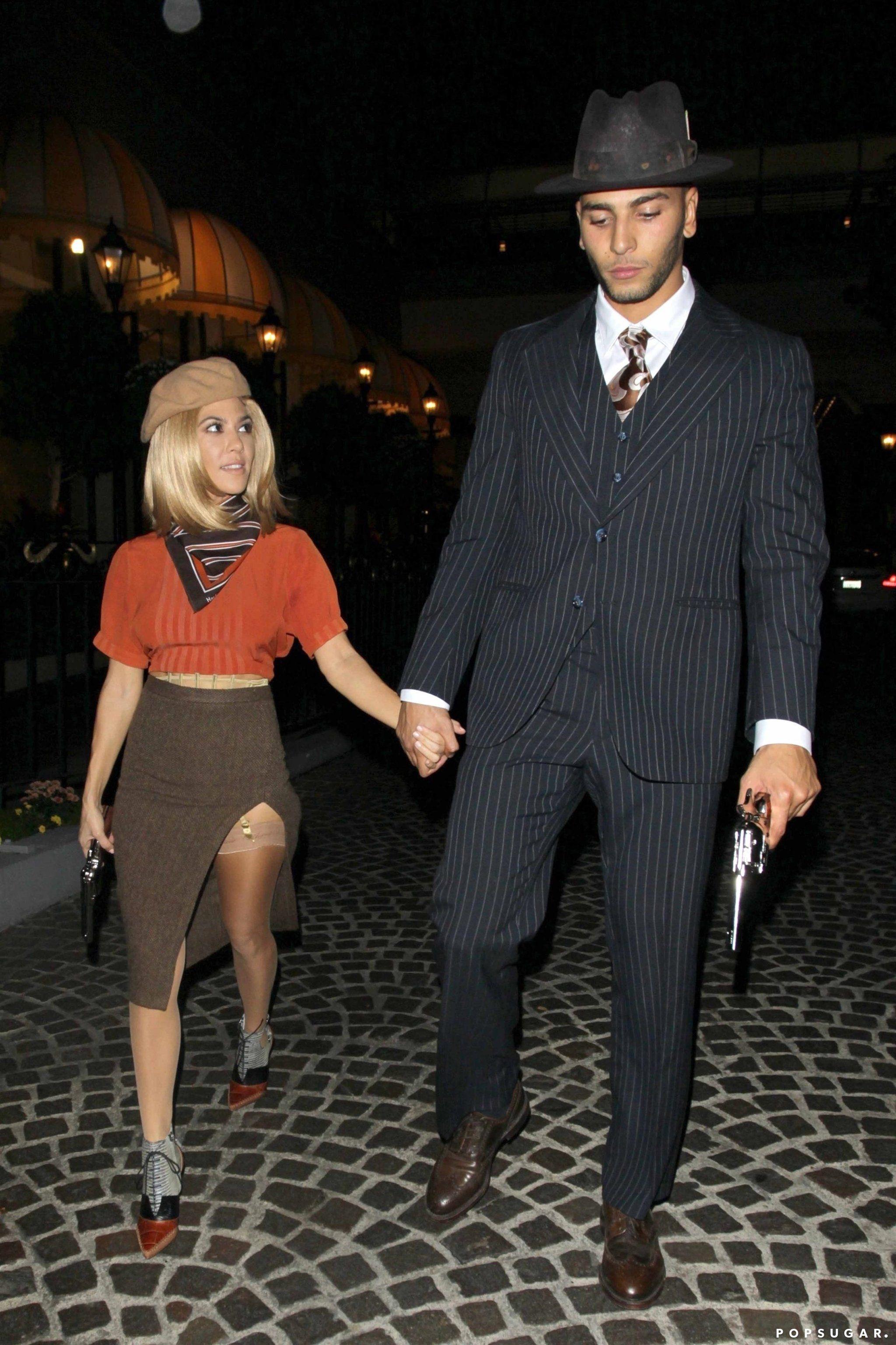 Kourtney Kardashian And Younes Bendjima As Bonnie And Clyde