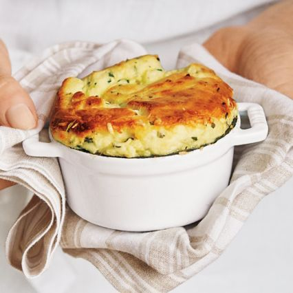 Recipes | Goat Cheese and Herb Souffle | #surlatable ...