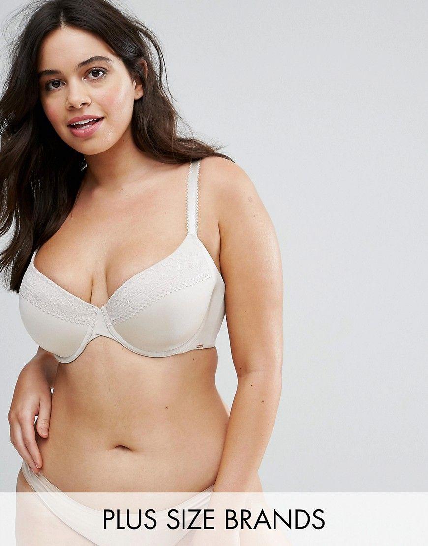 0c197172d3b6 Dorina Plus Alexandra Ivory T-Shirt Bra - White | Products | Bra, T ...
