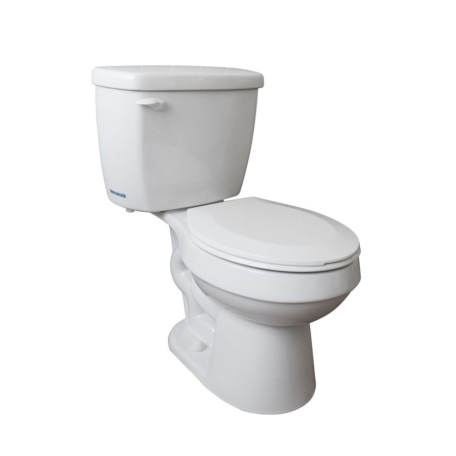 Project Source High Efficiency White Watersense Round Standard Height 2 Piece Vitreous China Toilet 12 In Rough In Size Lowes Com Water Sense China Toilet Toilet