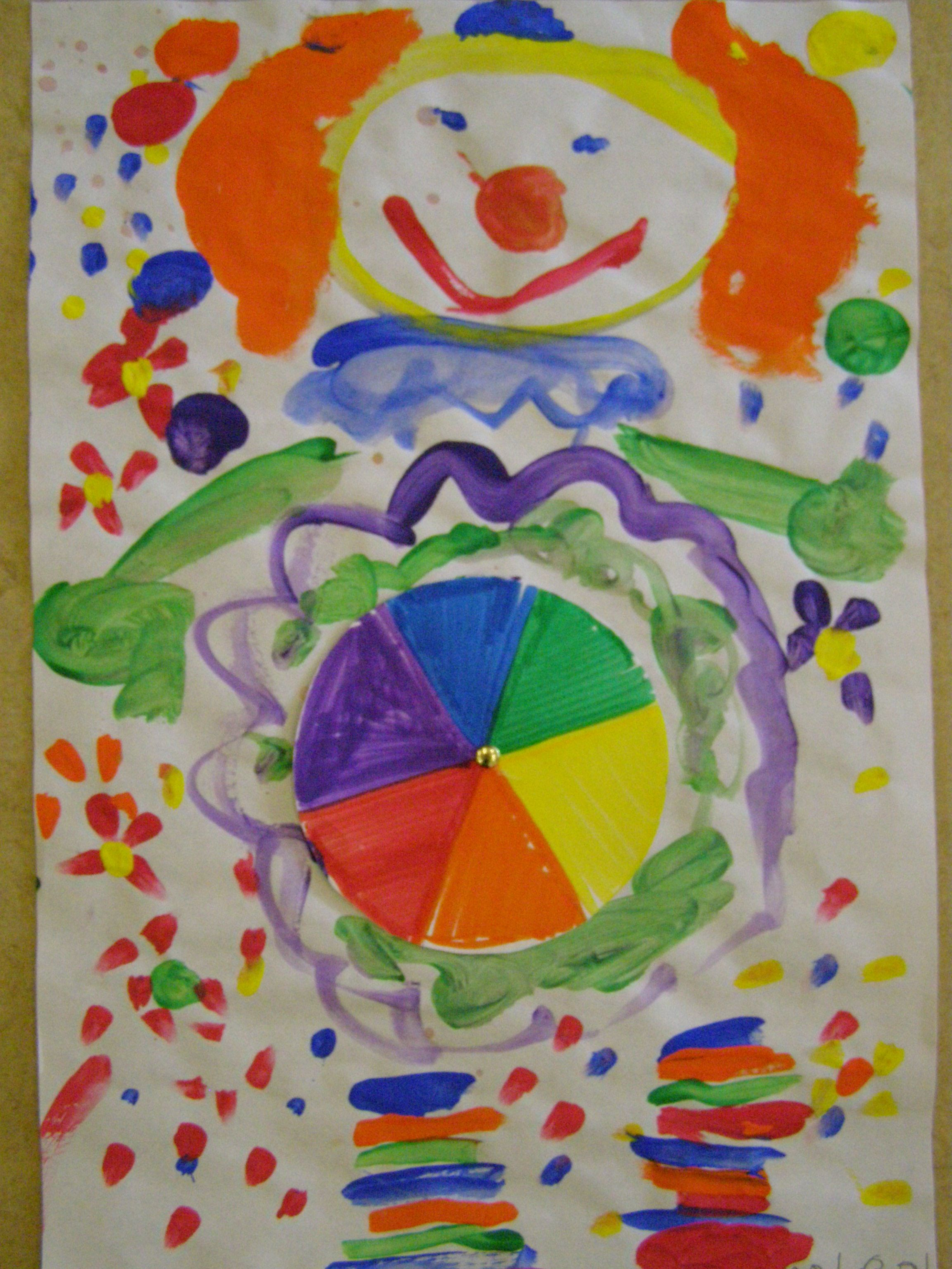 elementary art - color wheel clown | Elements of Art - Color Lessons ...