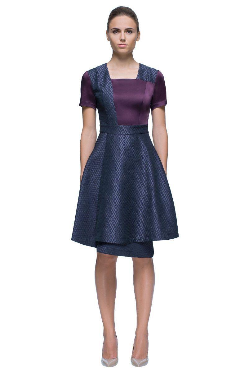 Little sharp eagleu asymmetric short sleeve dress my style
