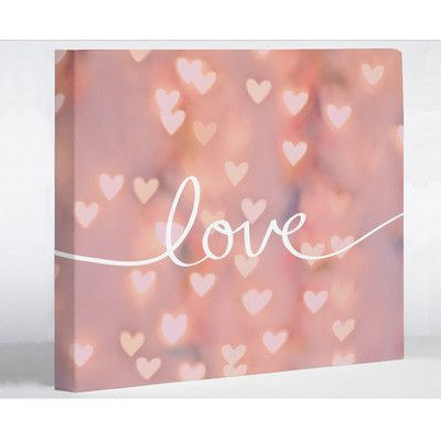 "One Bella Casa Script Love Bokeh Graphic Art on Canvas Size: 11"" H x 14"" W x 2"" D"