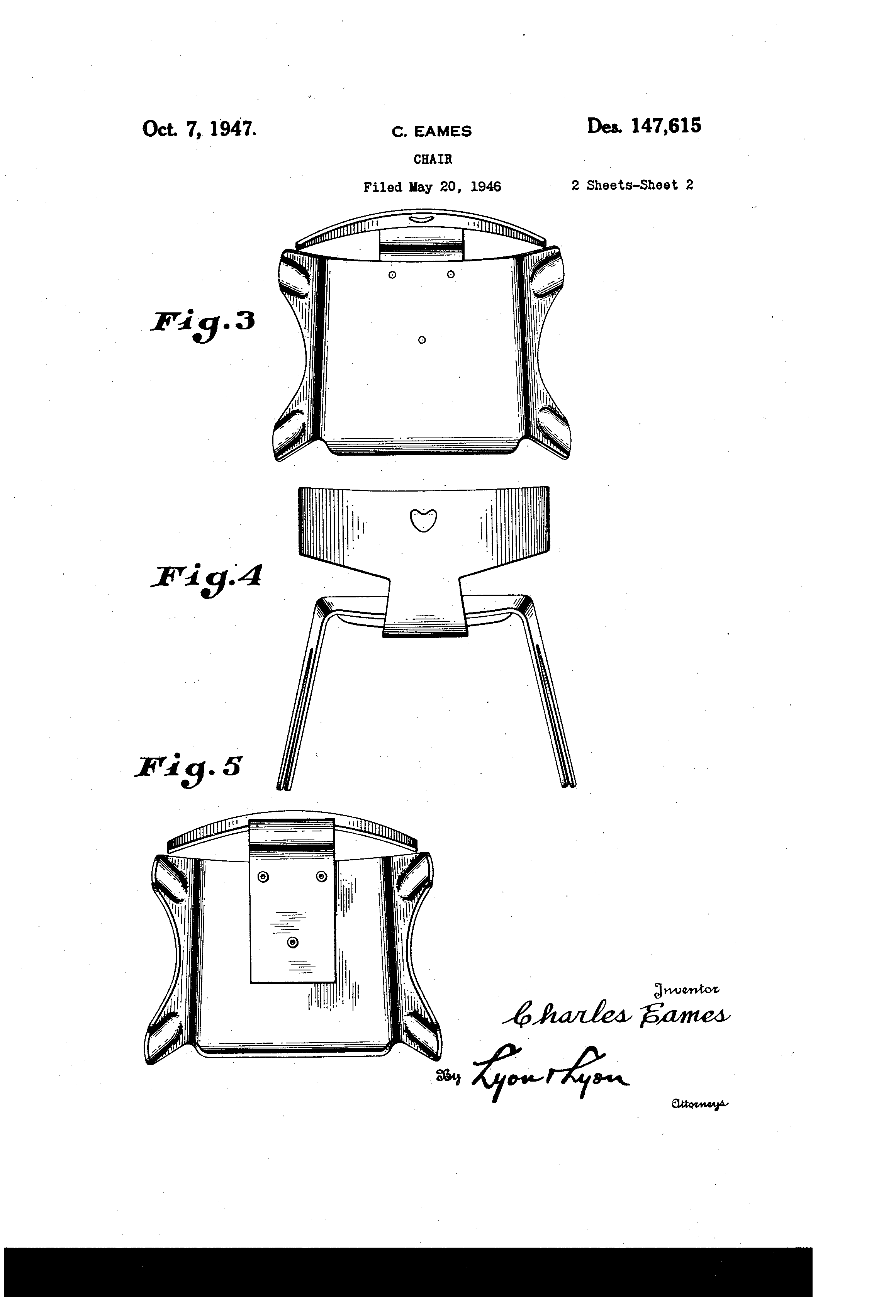 Eames Chair Patent Patent Usd147615 Eames Chair Google Patents Diy