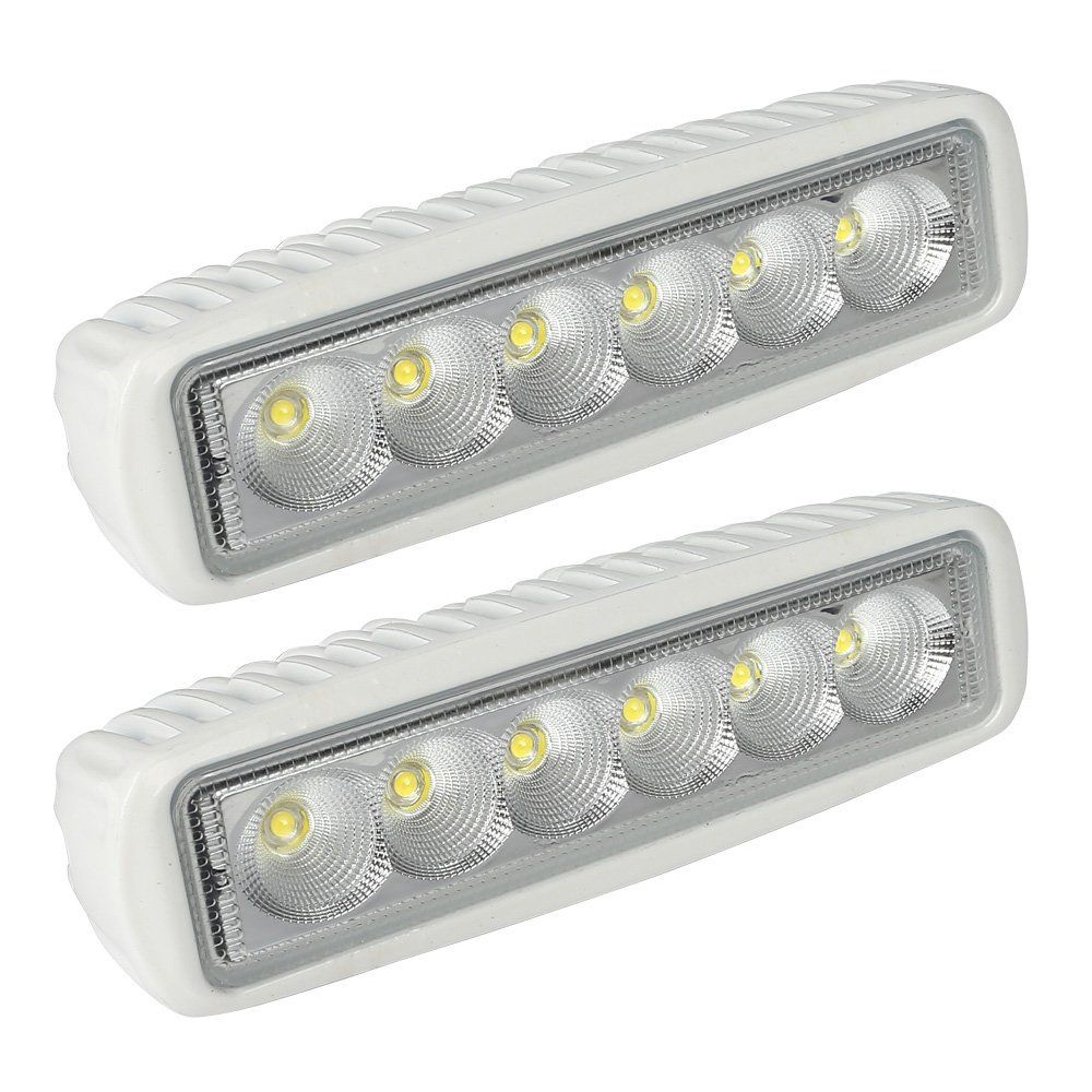 Leaningtech White Spreader Led Deck Marine Lights Set Of 2 For Boat Flood Light 12v 18w You Can Find O Led Boat Lights Boat Spotlights Led Deck Lighting