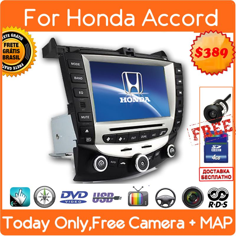 Find More Car Dvd Information About Car Dvd Gps Navigation For Honda Accord 7 2003 2007 Euro Bluetooth S Honda Accord Gps Navigation System Headrest Dvd Player