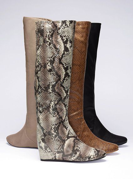 6b8d26478525 Hidden Wedge Boot - Colin Stuart® - Victoria s Secret... not loving the  snake print but like the congnac