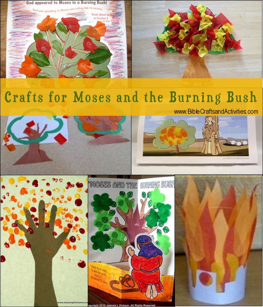 Sunday school crafts for preschool - Crafts For Moses And The Burning Bush Bible Crafts And Activities