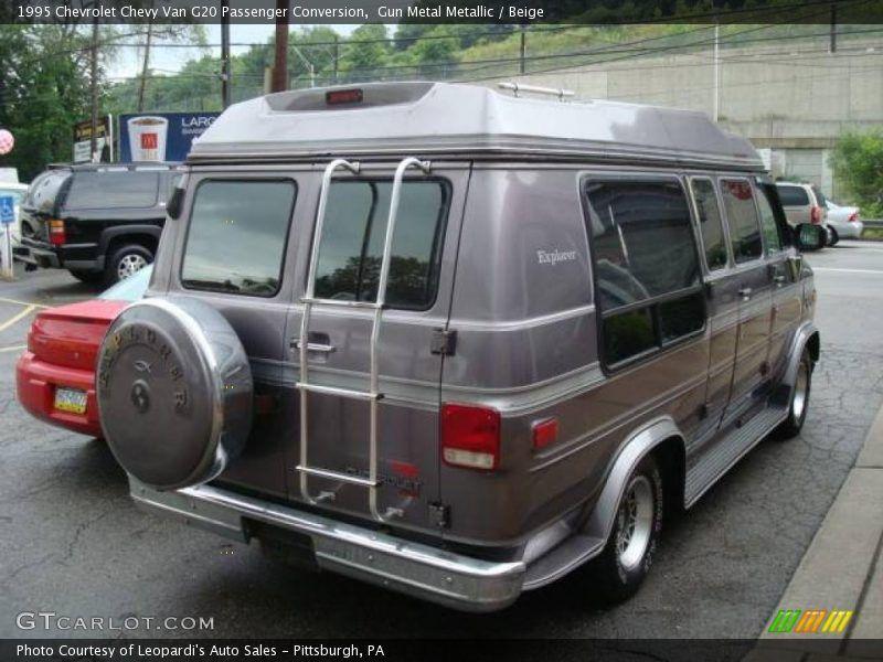 1995 Chevrolet Chevy Van Passenger Conversion In Gun Metal Metallic Photo No