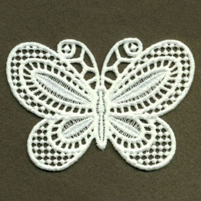 Fsl Butterfly Machine Embroidery Design Free Standing Lace White