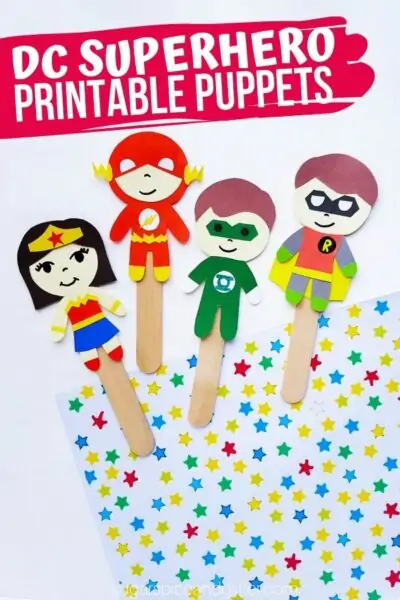 Super Simple Superhero Popsicle Stick Puppets
