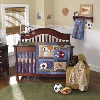 Baby Boy Bedding Themes Nursery Themed Blue Infant Football Crib Set