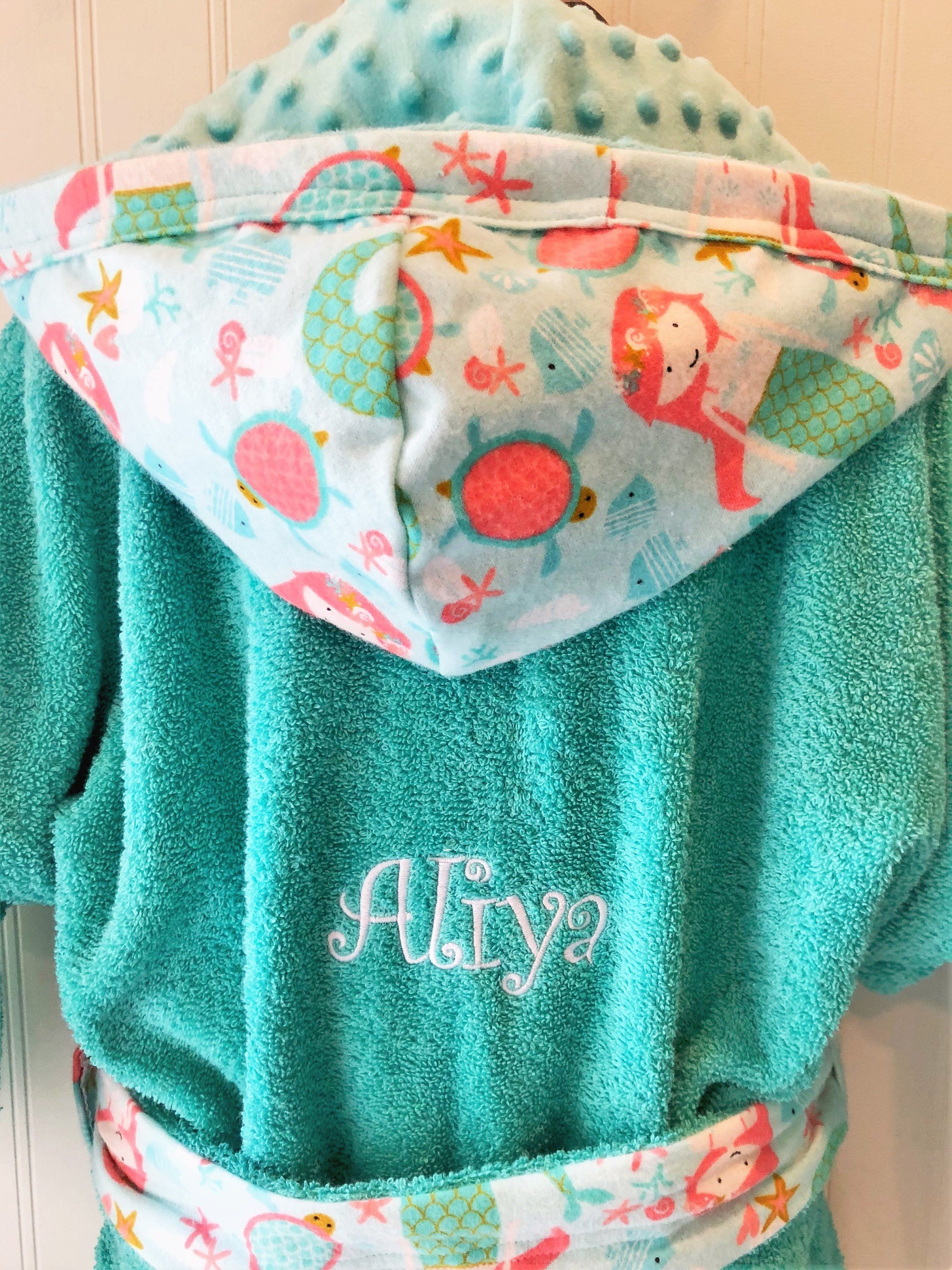 Girls -Bath-Robes-Mermaid-Aqua-Bathrobes-Hooded-Terry-Towels-Swim-Suit-Cover  Up-Shower-Birthday-Holiday-Baby-Kids-Teen-Gifts by tanjadlyn on Etsy 9254ae55c