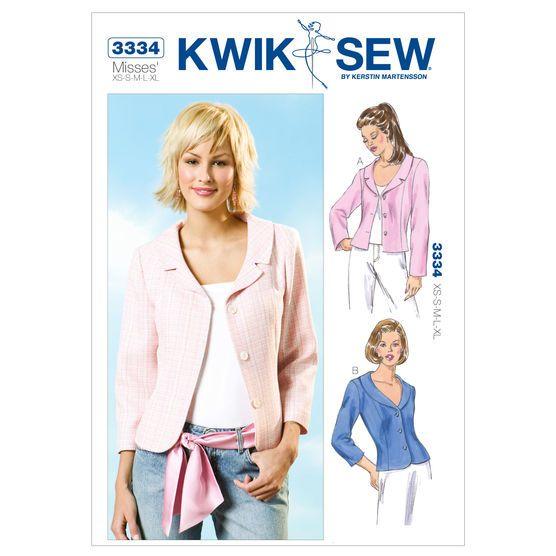 Kwik Sew Misses Outerwear-K3334 | Sewing | Pinterest