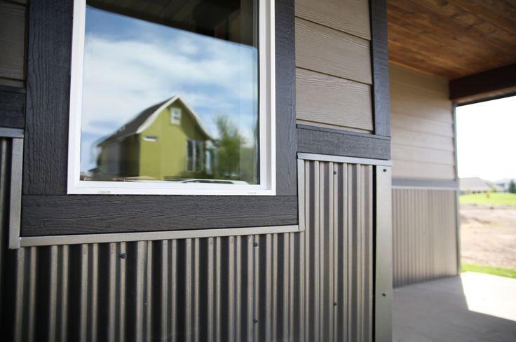 Bridger Steel Rezibond Metal Roofing And Siding Panel Home Corrugated Metal Siding Steel Siding House Siding