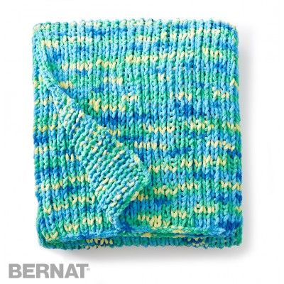Free Beginner Blanket Knit Pattern Pinteres
