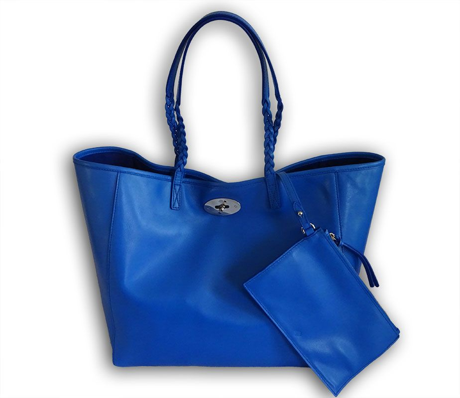 Mulberry bluebell blue soft nappa leather medium dorset tote shopper  shoulder… ea5ab9c099c06