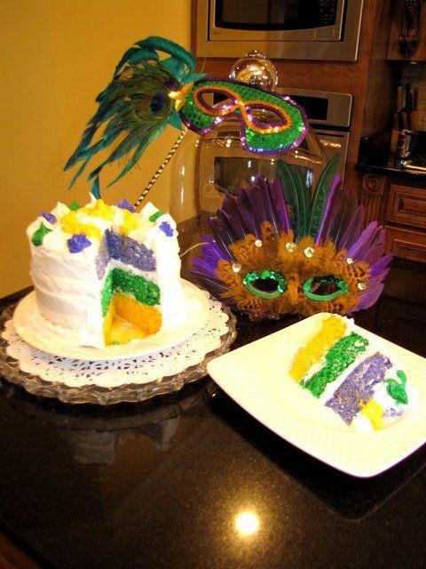 Mardi Gras Cake With Images Mardi Gras Cake Mardi Gras