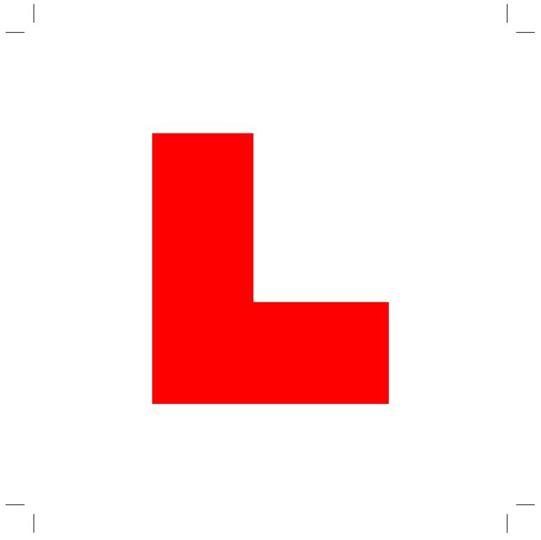 Printable L plate template – Driving Test Tips | Projects to Try ...