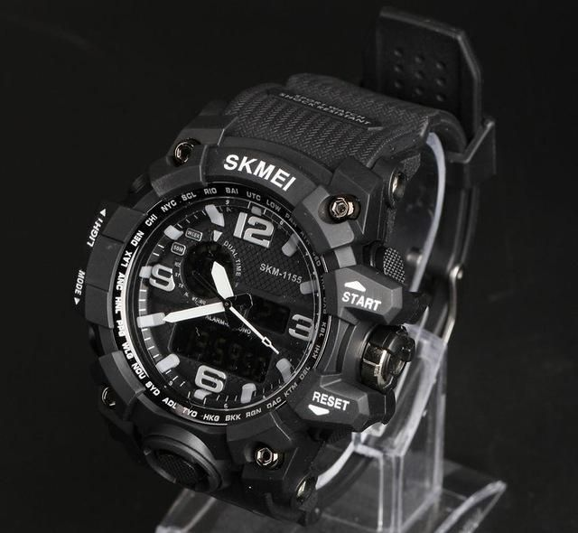 5065eee1a77 SKMEI Large Dial Shock Outdoor Sports Watches Men Digital LED ...
