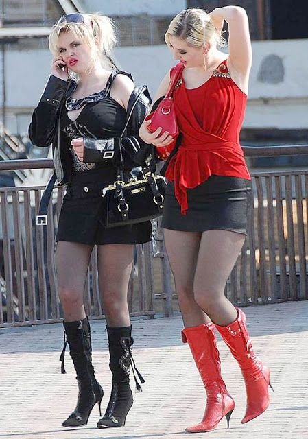 Real Russian Females In Public Heels Boots ReddPics 1