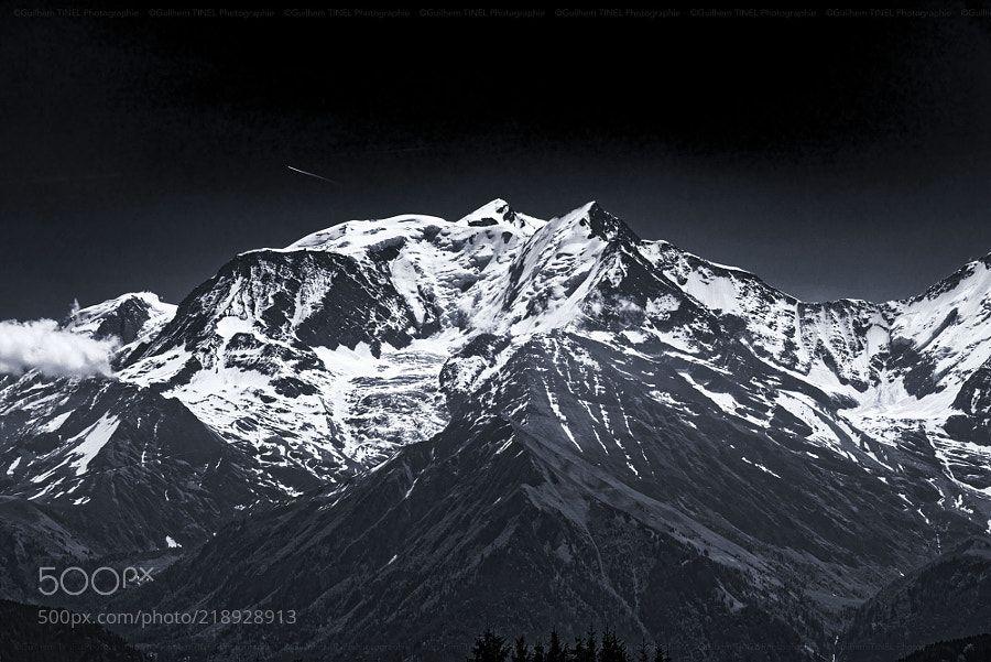 Mont-Blanc - Le Mont-Blanc en noir et blanc dans toute sa splendeur :-)