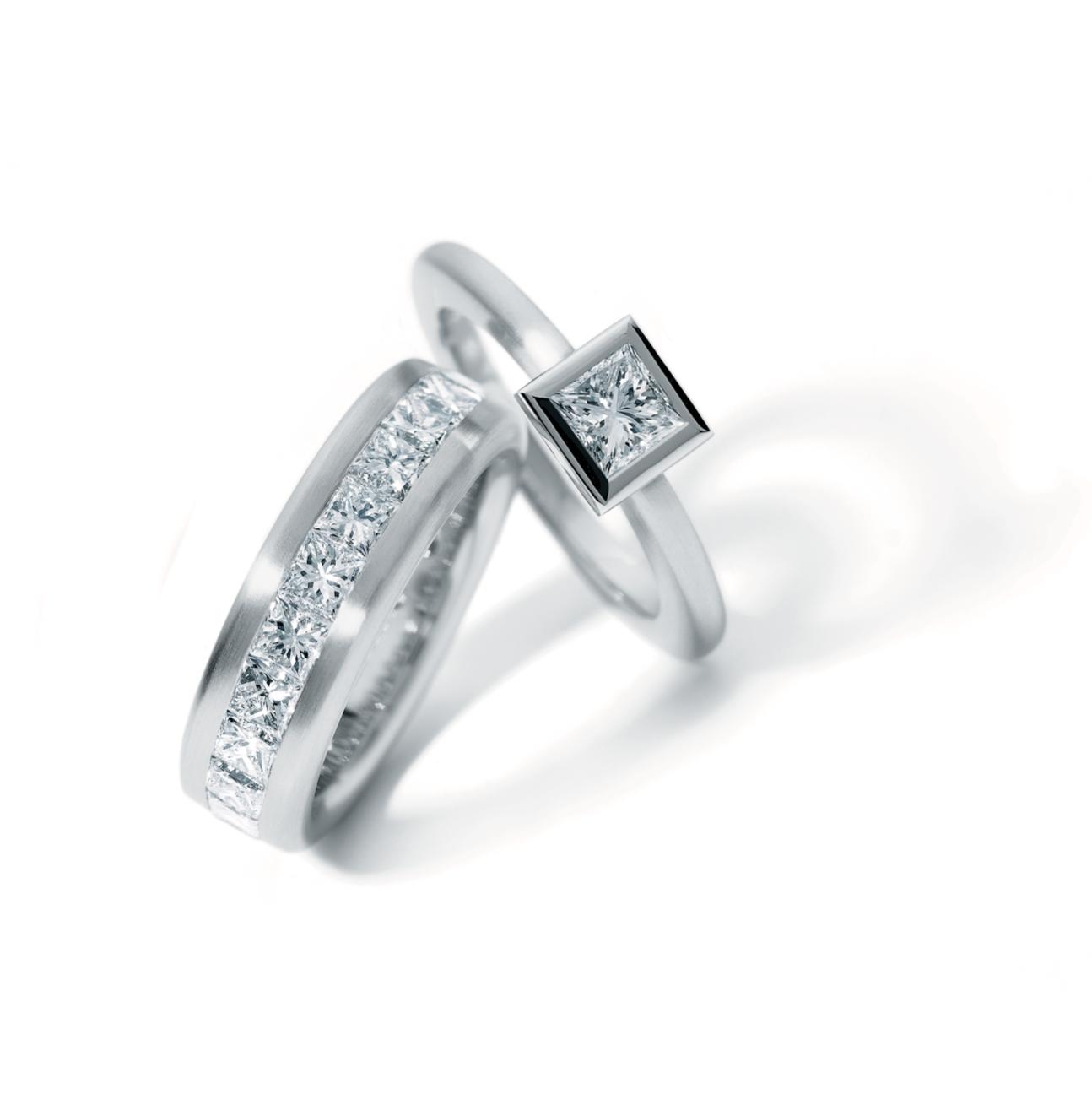 5581d1878 ORRO.co.uk - Henrich & Denzel - Platinum Diamond Engagement Ring - ORRO  Contemporary Jewellery Glasgow