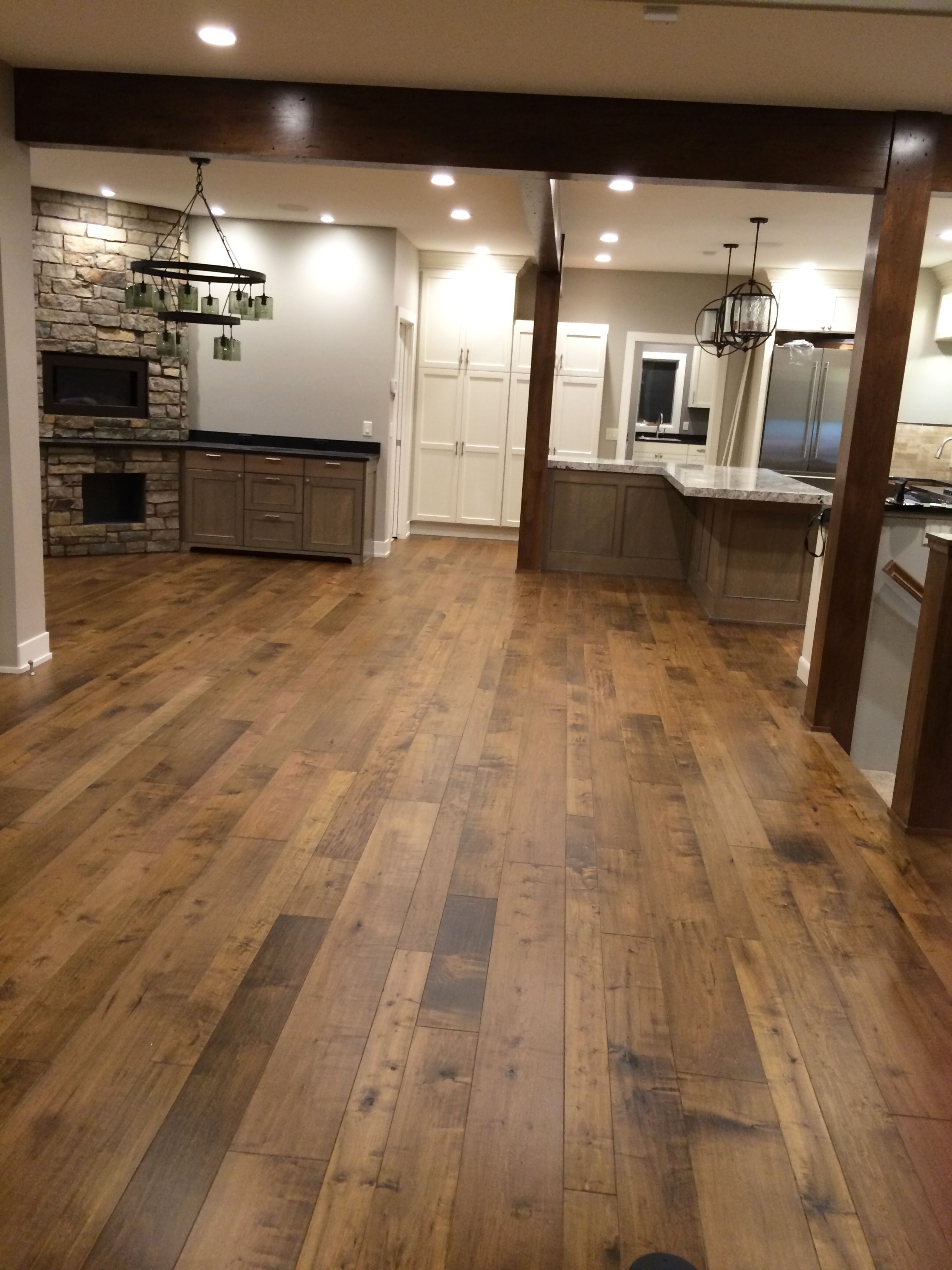 Monterey hardwood collection engineered hardwood fulton for Kitchen flooring installation