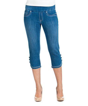 Look what I found on #zulily! Light Blue Wash Capri Jeans - Women & Plus by BLUBERRY DENIM #zulilyfinds