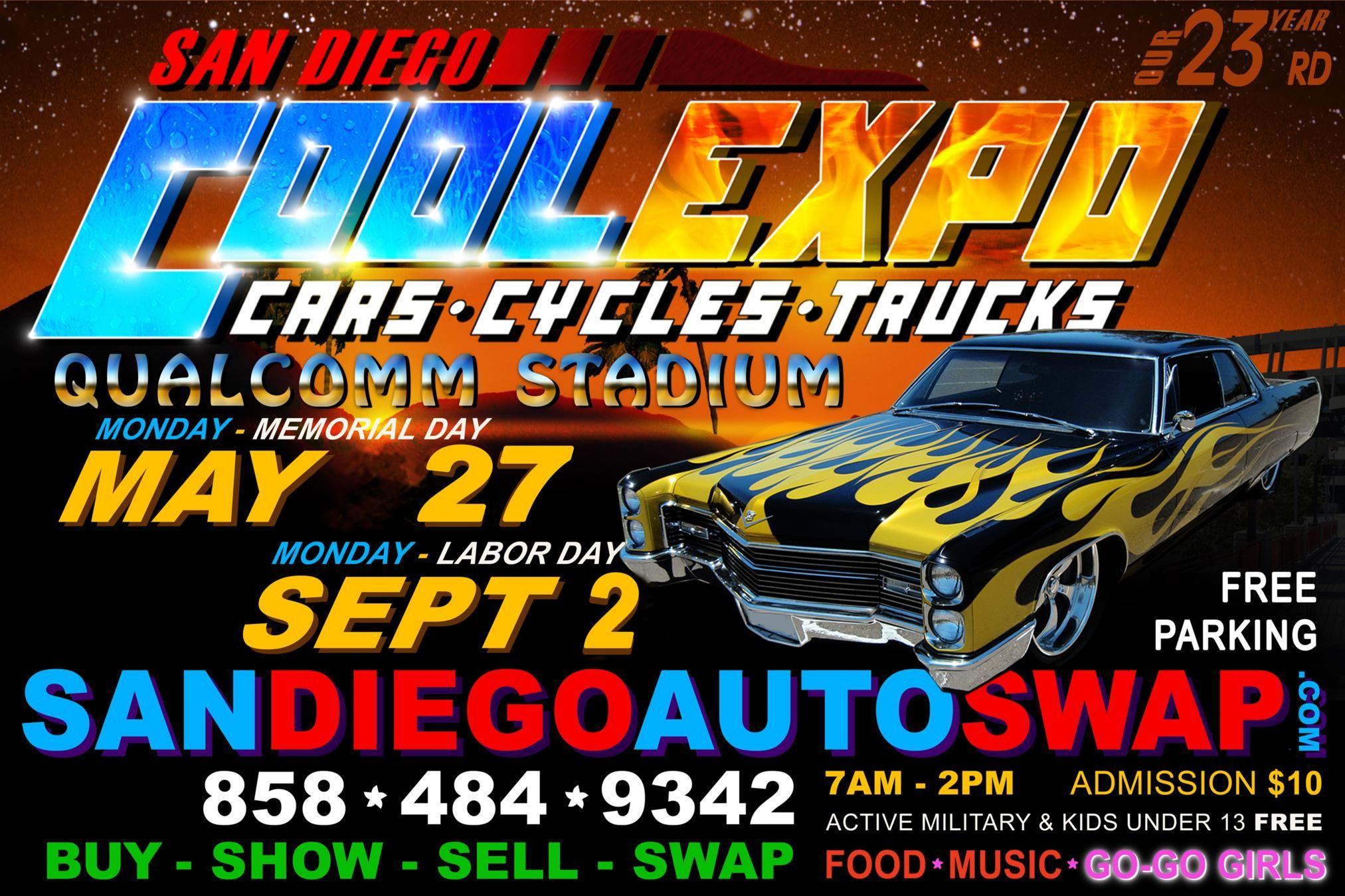 San Diego Cool Car Truck Cycle Expo Qualcomm Stadium Classics