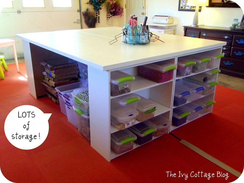 Diy Crafting Table Craft Tables With Storage Craft Table Diy Craft Table