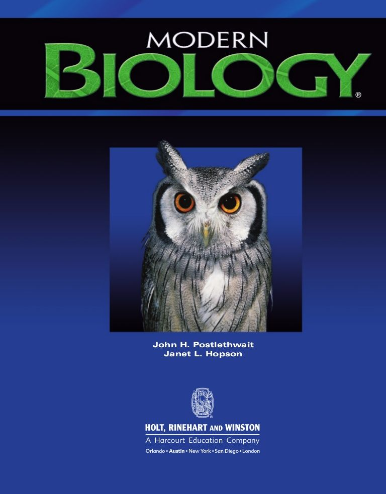 modern biology online textbook