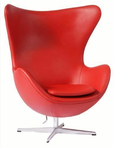 Copy Designer Furniture arne jacobsen premium red leather egg chair - sofa replica