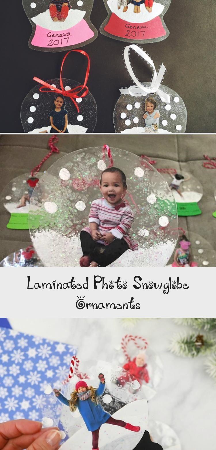 Laminated Photo Snowglobe Ornaments Laminated christmas
